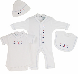 sailing away deluxe embroidered layette set by gordonsbury