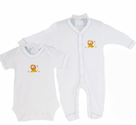 safari embroidered layette set by gordonsbury