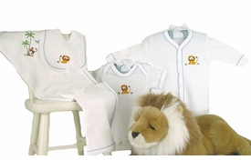 safari premium embroidered layette set by gordonsbury