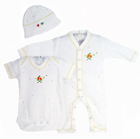 nursery time embroidered layette set by gordonsbury