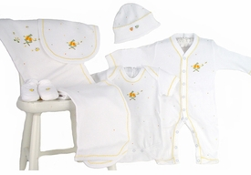 nursery time premium embroidered layette set by gordonsbury