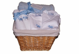 baby lamb gift basket (blue)