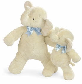 smushy elephant with blue bow - 25 inches  by north american bear