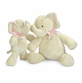 smushy elephant with pink bow - 25 inch by north american bear