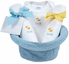 baby gift bucket hat - yellow ducks