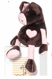 chocolate and  pink pig by moncalin
