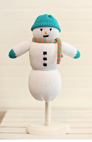 aqua personalized snowman doll