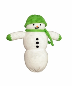 personalized snowman doll-green hat