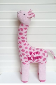 personalized giraffe stuffed animal