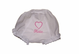 personalized valentines girl's bloomers