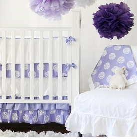 periwinkle bloom crib sheet