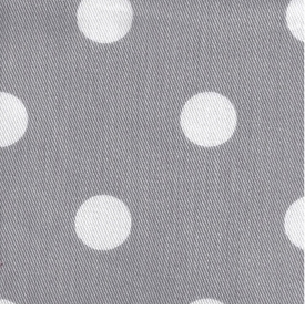 white on gray polka dot crib sheet