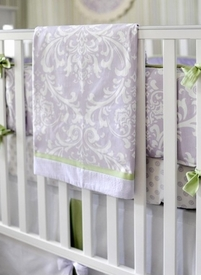 sweet violet crib sheet