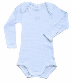 ribbed stripe long sleeve bodysuit by petit bateau