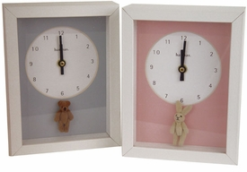 clock - 5 x 7 inch  teddy