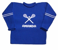 personalized lacrosse sweater