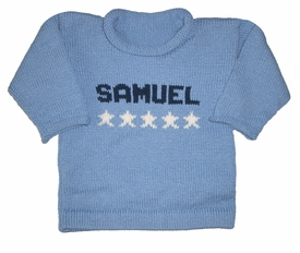 personalized stars knit sweater
