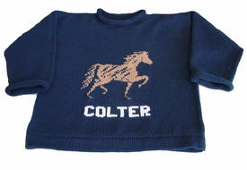 personalized equestrain horse pullover sweater