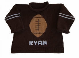 personalized football pullover sweater
