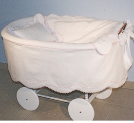 madison scalloped cotton bassinet
