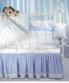 windowpane check (primel and aralie) crib bedding