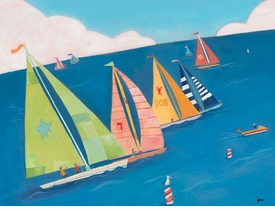 sailing regatta - wall art by jenny kostecki