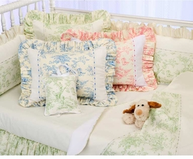 toile crib bedding by blauen
