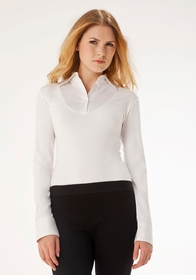 elizabeth daniel classic long sleeved shirt (white)