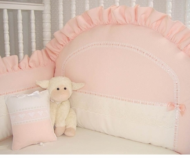 honeycomb peach crib bedding by blauen