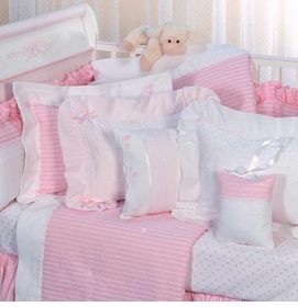 precious pink crib bedding by blauen