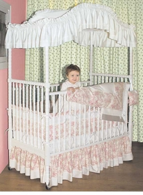 custom toile crib bedding