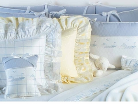blue crib bedding