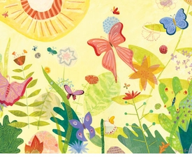 wild flower sunshine wall art