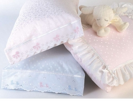 blauen baby pillowcase