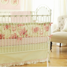 roses for bella crib bedding