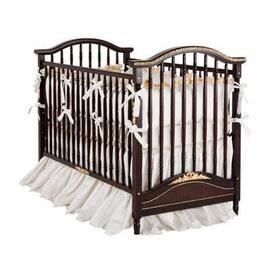 madison crib - cherry with gold gilding/moulding/caning