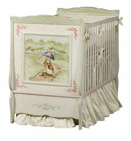 beatrix potter enchanted forest french panel crib by art for kids