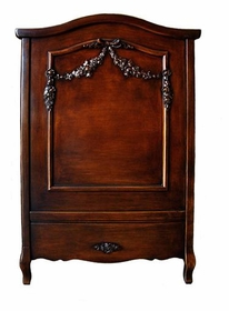 french panel crib antique (french walnut)