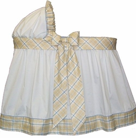little bunny blue fit for a prince bassinet