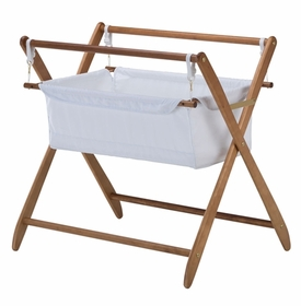 cariboo gentle motions teak bassinet