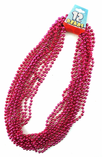 Pink Beads - 12 Strands