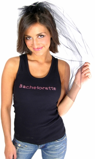 Black Bachelorette Party Veil