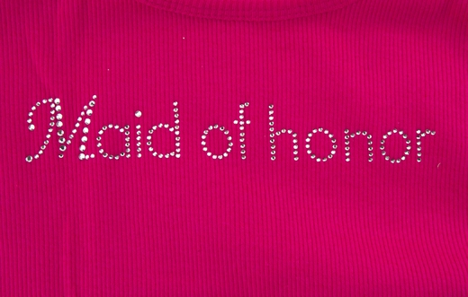 Maid of Honor Tank - Pink with Gemstones