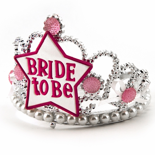 Bride To Be Tiara - Pink and White
