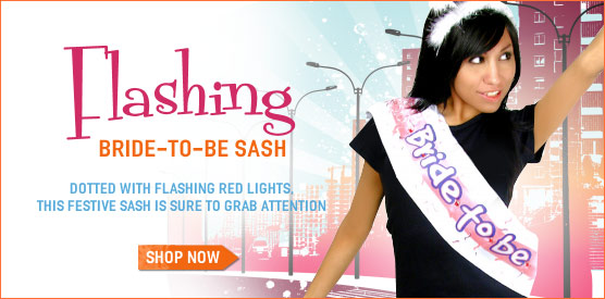Flashing Bride-To-Be Sash