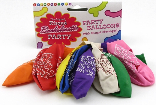 Risque Party Balloons - Lots of Penises On Them