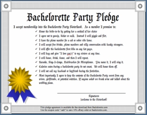 Bachelorette Party Pledge