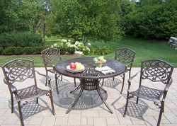Oakland Living Sunray Mississippi 5Pc Dining Set in Bronze - click to enlarge