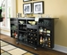 American Drew Camden Black Flip Top Bar with Drawer