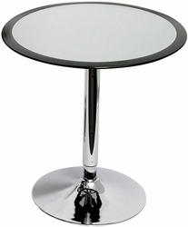 Round Silver Fiberglass Ribbon Bar Table - click to enlarge